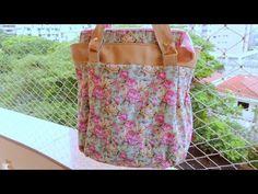 Bolsa em tecido e couro ecológico Floral - Aprenda a fazer esta peça e compre tecidos e acessórios no Maria Adna Ateliê - Endereço: Av. das Carinas, 739, Moema, São Paulo - Fones: 11-5042-0145 e 11-99672-8865 (WhatsApp)  Email: ama.aulasevendas@gmail.com. Estacionamento próprio. FACEBOOK: https://www.facebook.com/MariaAdnaAtelie..