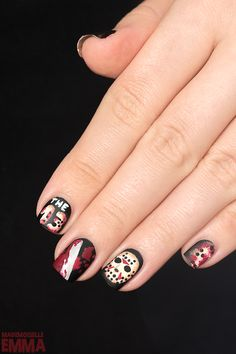 Halloween Nail Art - Friday the 13th