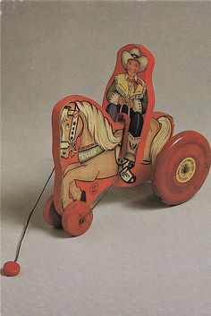 Roy Rogers Pull Toy by Calsidyrose, via Flickr