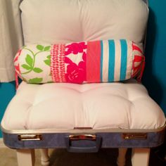My Vintage Suitcase Chair :) I saw the idea & I just had to make one!