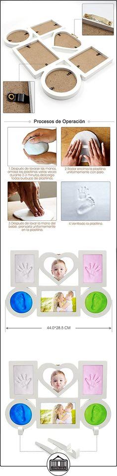 Marco de Foto con 4Huellas de Bebé,6 Partes para Poner Foto y Huella,Color Blanco.  ✿ Regalos para recién nacidos - Bebes ✿ ▬► Ver oferta: http://comprar.io/goto/B01MEDJKU8