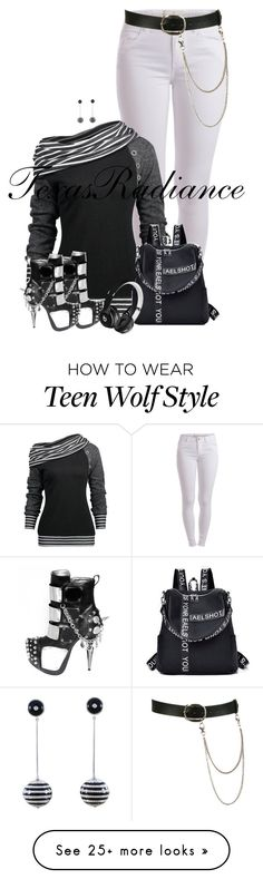 """""""Miguel- Wolf"""" by texasradiance on Polyvore featuring Pieces, Beats by Dr. Dre and Wet Seal"""