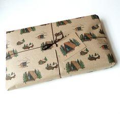 winter lodge gift wrap set by katebroughton on Etsy, £7.00