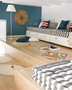 Nautical Inspired Bedroom For Boys Trendy Bedroom, Kids Bedroom, Interior Trailer, Kids Furniture, Bedroom Furniture, Nantucket, Interior Architecture, Interior Design, Interior Decorating