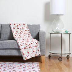 Kangarui Pink Flamingo Pattern Fleece Throw Blanket | DENY Designs Home Accessories #balnket #flamingo #pattern