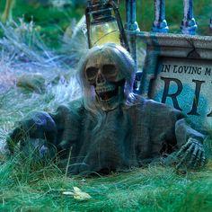 Halloween decorations : IDEAS & INSPIRATIONS Grave Ground Breaker Skull