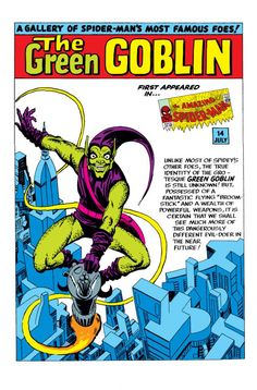 Green Goblin//Steve Ditko/D - E/ Comic Art Community GALLERY OF COMIC ART