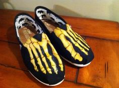TOMS Shoe Skeleton Feet by AlphaxOmega on Etsy