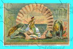 fantasy fabric blocks art and crafts  s414  Vintage Fantasy Altered Art Mermaid by wwwvintagemermaidcom, $7.00