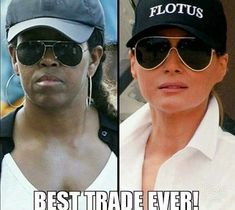 """An a actual First """"Lady"""", because a tuck doesn't count regardless of how good a defensive lineman you were....."""