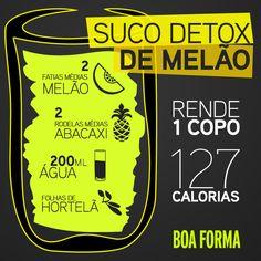 Suco Detox de melão!