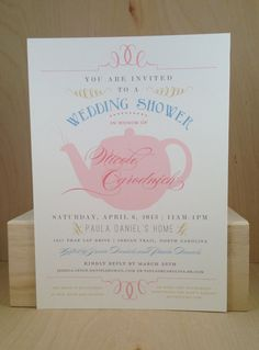 Bridal / Wedding Shower / Tea Party / Girls Day / Valentine Brunch / Lunch / Sip and See / Custom Design by Darby Cards