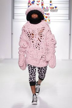 SIBLING's Over-The-Top Knitwear for Men: men can rock the pink as well