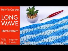 This crochet tutorial explains tips on how to crochet the Lengthy Wave Crochet Sew Sample very simply and detailed for a number of rows to elucidate the repeats. For extra details about this sample, Chunky Knitting Patterns, Crochet Stitches Patterns, Stitch Patterns, Crochet Shawl, Crochet Afghans, Chevron, Crochet Videos, Homemade Crafts, Craft Work