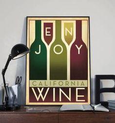 poster en joy wine - 30x40cm