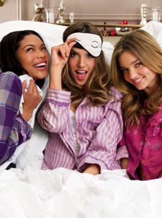 The truth about girls.. Is that we will never be to old for sleep overs...