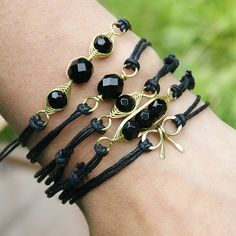 Bracelet - take in the same stone or bead - great idea for stacking!