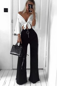 {Classy And Elegant Summer Outfits Classy Shorts Outfits, Classy Work Outfits, Trouser Outfits, Legging Outfits, Night Outfits, Chic Outfits, Fashion Outfits, Classy Outfits For Going Out, Black Pants Outfit Dressy