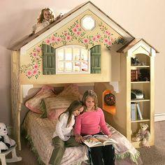 Ashley Dollhouse Loft Bunk Bed from PoshTots