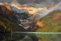 Lake Louise at Sunrise by Gil Dellinger Acrylic ~ 48 x 72
