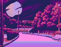 Image discovered by ♡ 𝓂𝒶𝓇𝒾𝒶 ♡. Find images and videos about pink, art and night on We Heart It - the app to get lost in what you love. Aesthetic Anime, Aesthetic Art, Purple Aesthetic, Pixel Art, 8bit Art, Vaporwave Art, Oeuvre D'art, Aesthetic Wallpapers, Les Oeuvres