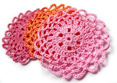 Lacy Coasters Pattern in German and English