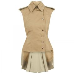 Alexander McQueen Military frock jacket by None, via Polyvore