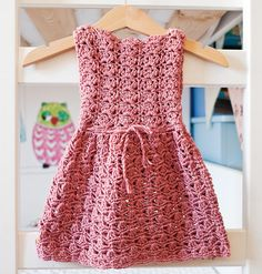 Instant download - Dress Crochet PATTERN (pdf file) - Scalloped Neckline Lace Dress (baby, toddler, child sizes),