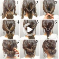 hair updo tutorial Messy updo hairstyles can do justice to any look then it is for a night out or a holiday. Here, we have rounded up top messy updo tutorials for you. Work Hairstyles, Trendy Hairstyles, Braided Hairstyles, Wedding Hairstyles, Hairstyle Ideas, Bangs Hairstyle, Hair Ideas, Hairstyles 2016, Hairstyle Images