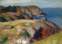 "Edward Hopper, ""Blackhead, Monhegan"", 1916-1919. Oil on wood, 91/2 x 13 in. Whitney Museum of American Art"
