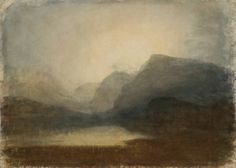 Joseph Mallord William Turner, View across Lake Llanberis towards Snowdon, watercolour, Joseph Mallord William Turner, Turner Painting, Painting & Drawing, Claude Monet, Art Romantique, Turner Watercolors, Watercolor Landscape Paintings, Illustration Art, Illustrations