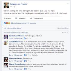 Correio do Poder: 'Somente um psicopata teria coragem de fazer o que Lula fez hoje. Instrumentalizar a morte da própria mulher para a política', afirma estudioso
