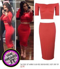 You can also wear it  Buy it here: http://r.ebay.com/qPdHpZ #fashion #croptop #pencilskirt #coral #KimKardashian #love #summer #sexy #trend