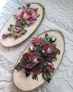 Wedding Decoration Supplies, Floral Wedding Decorations, Sculpture Painting, Painting On Wood, Diy Clay, Clay Crafts, Sugar Paste Flowers, Flower Headpiece Wedding, Cold Porcelain Flowers