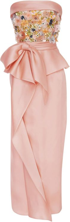 Marchesa Sequin Embroidered Tea Length Dress