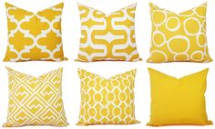 One Yellow Throw Pillow Cover - Yellow Decorative Pillows - Yellow Couch Pillows - Yellow Cushion Cover - Yellow Accent Pillow by CastawayCoveDecor on Etsy https://www.etsy.com/listing/165615370/one-yellow-throw-pillow-cover-yellow