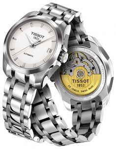 Tissot COUTURIER QUARTZ LADY T035.210.11.011.00 silver. Just as the  creations of 1726f27eb44f