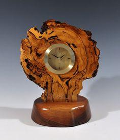 Spalted sweetgum burl wood clock