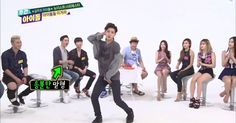 NU'EST and FIESTAR have a sexy freestyle face-off on 'Weekly Idol' | http://www.allkpop.com/article/2014/09/nuest-and-fiestar-have-a-sexy-freestyle-face-off-on-weekly-idol