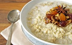 Warm Spiced Quinoa Porridge with Honeyed Walnuts   The Luminous Kitchen