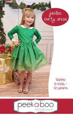 Peek-a-Boo Pattern Shop - Jubilee Party Dress, $7.95 (http://www.peekaboopatternshop.com/jubilee-party-dress/)