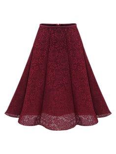 Free Size Skirt For Ladies High Waist Skirts Womens Knee Length Sexy Hollow Out Elegant Lace Skirt Brand Female Clothes Jupe Swing, Swing Skirt, Red High Waisted Skirt, Waist Skirt, Dress Skirt, Lace Skirt, Midi Skirt, White Skater Skirt, Purple Skirt