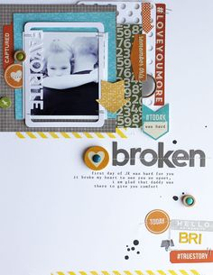 Broken layout. Great 8.5x11 layout for 6x6 paper pads