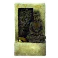 Test en live de la fontaine décorative bouddha avec mini mur d'eau.