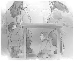 thorin and bilbo dragon sickness Fili Y Kili, Kili And Tauriel, Legolas And Thranduil, Hobbit Art, O Hobbit, Bagginshield, The Hobbit Movies, Jrr Tolkien, Tolkien Books