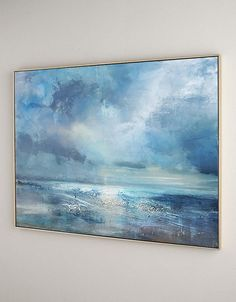 Large Cloud Abstract Art Painting On Canvas,Marine Landscape Oil Painting,Large Wall Canvas Painting,Large Wall Art Sea View Oil Painting Large Wall Canvas, Diy Canvas Art, Large Wall Art, Blue Abstract Painting, Abstract Landscape, Abstract Paintings, Painting Art, Landscape Paintings, Your Paintings