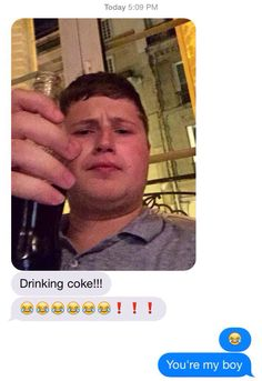Text messages from Graser are the weirdest thing