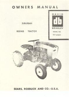 sears parts manuals lawn tractors
