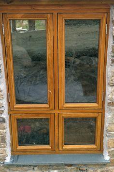 more oak windows, like the design, love the colour Windows And Doors, China Cabinet, Colour, Furniture, Design, Home Decor, Color, Crockery Cabinet, Decoration Home
