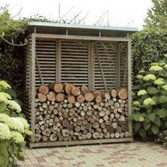 Modern Firewood Storage http://gardenshedplansonline.com/